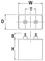 CC Series Oil-Filled Capacitors (Drawn Rectangular Can)